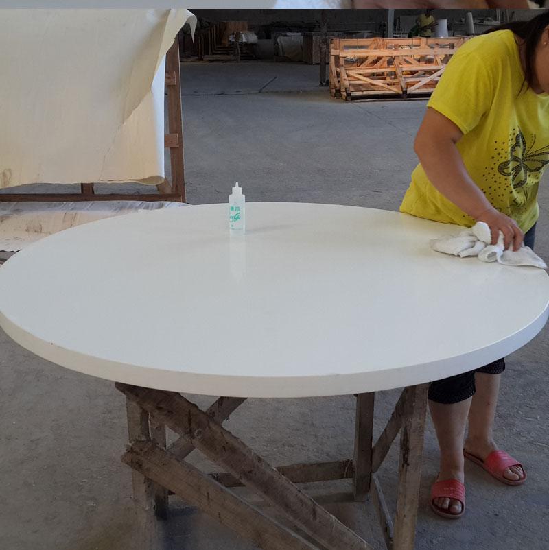 Bwt007 White Quartz Round Table Top China Granite Outlet
